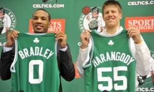 Avery Bradley and Luke Harangody introduced to the media